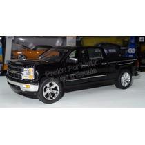 1:24 Chevrolet Silverado Ltz 2014 Negro Jada Pick Up Display