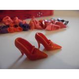 Sapato Salto Sandália Para Barbie Modelo 6 Vermelh Importado