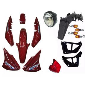Kit Plástico Carenagem Honda Cg Titan 150 2007 Ks Verm Pç 15