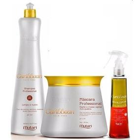 Kit Caribbean Profissional Mutari Máscara+shampoo+selante