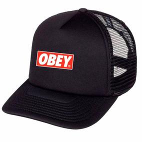 Boné Obey Trucker Tela Telinha Aba Curva