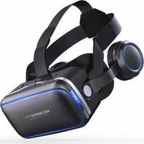 Óculos Vr 3d Shinecon 6.0 Novo Com Fone Stéreo Integrado