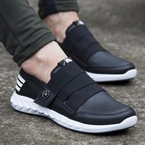 Zapatos Doble Elástico Negros Tenis Mocasines Maxi®