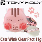 Tonymoly Cats Wink Clear Polvo Compacto Controla Aceite
