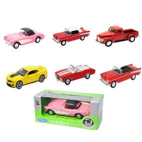 Kit Miniatura 06 Carros 1:34 Linha Chevrolet Corvette Welly