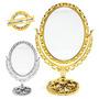 Espelho De Mesa Maquiagem Dupla Face Aumento Bancada 30cm
