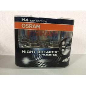 Kit Focos H4 Osram Night Breaker Unlimited 12v 60/55w