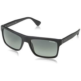 Prada Sl32d0 Mate Negro 01ss Wayfarer Gafas De Sol Lente Ca
