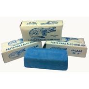 Pasta Polimento Alto Brilho Em Metais Azul Jacare 145gr 4 Un