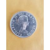 Moneda De 1 Dolar Plata Canada - Elizabeth I I - 1957