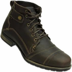 Botina Boots Company Taurus Fossil Couro Marrom