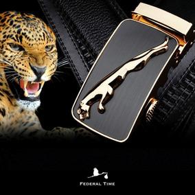 Cinto Jaguar Masculino Puma Couro Fivela Automático Original