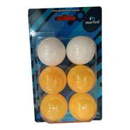 Pelotas Ping Pong Tenis De Mesa Recreativas Blister X 6 Un