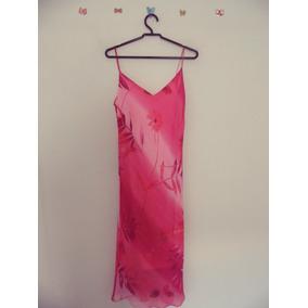 Vestido Rosa Estampado Alcas Cód. 86