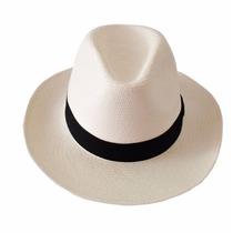 Chapéu Moda Panamá Aba Larga Casual Praia Masculino Feminino