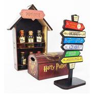Kit Harry Potter Mini Baú - Apotecário - Mini Seta Presente
