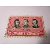 Union Postal Americas Y España Estampilla Colombia L9