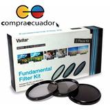 Vivitar Kit Filtro De Lente 3 Piezas 67mm Uv Cpl Nd8 Nikon
