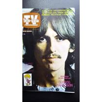 George Harrison (los Beatles) En Revista Tele Guia Año-1973