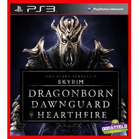 Skyrim Ps3 Psn Somente Dlcs Dragonborn Dawnguard E Heartfire