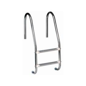 Escada Para Piscina Em Aço Inox Com 2 Degraus Inox Removivel