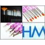 Kit 22 Pinceles Nail Art Dotting Lengua De Gato Deco Uñas