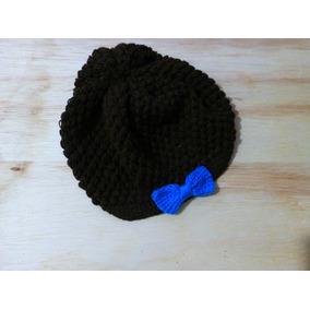 Gorro Para Niña, Tipo Boina, Tejido A Crochet