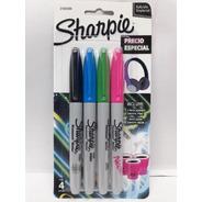 Marcador Sharpie Fino Pack X3 Colores + 1 Neon