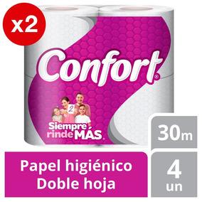 Papel Higiénico Pack X2 Confort 8u Doble Hoja 30m