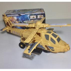 Helicóptero Eletrônico Com Luz E Som (bate Volta E Gira)