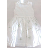 Vestido Menina Batizado Branco Rodado - Mio Bebê