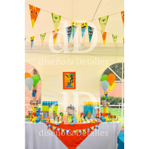 Fiesta Temática Mesa De Dulces Infantil Bajoterra Basica
