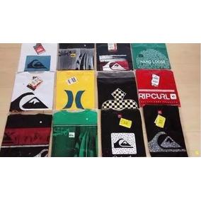 Kit 5 Camisas Marcas Famosas Originais Oakley, Quik, Hurley