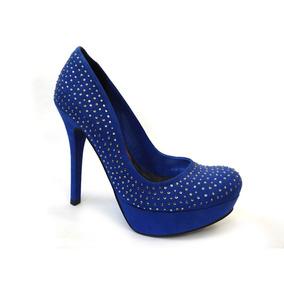 Sapato Meia Pata De Camurça 13-3101 Via Marte (92) - Azul