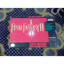 Final Fantasy 2 Snes Caja Instructivo Mapa Super Nintendo