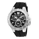 Reloj Technomarine Tm 115073 Negro Plateado Original