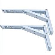 Mensula Rebatible 30cm Blanco (x Par) Con Resorte