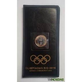 Álbum Preto Com 16 Moedas Olimpíadas + Moeda Bandeira R$549