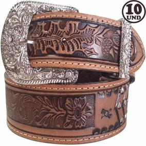 Cinto Feminino Couro Strass Cowboy Country Revenda 10und