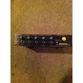 Amplificador De Audifonos Samson Model Q5 Para 5 Audifonos