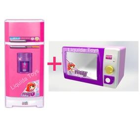 Geladeira Mágica Super Meg + Microondas Com Som Magic Toys!!