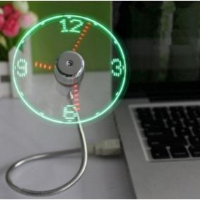 Reloj Ventilador Luz Led Decoración De Casa Oficina ¡genial!