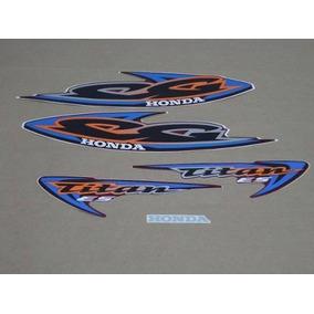 Kit Adesivos Honda Cg Titan 125 Es 2000 Vermelha