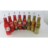 Mini Coleção 8 Garrafas Aluminio Coca-cola Com Frete