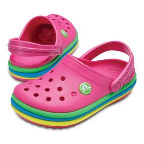 Crocs Crocband Niños Rainbow -paradise Pink-
