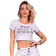Blusa Cropped Pitbull Jeans Pit Bull 39234 Pit Bull