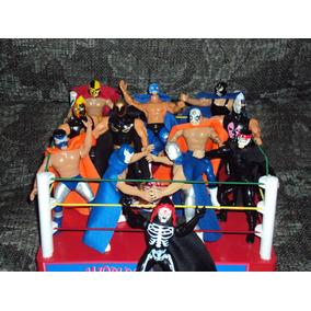 Ring De Lucha Libre + 2 Luchadores A Elegir Varios Modelos