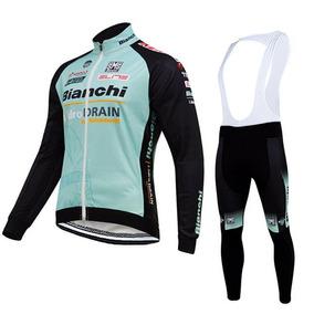 Uniforme Ciclismo Bianchi Lon, Jersey Largo + Pants Bib Bici