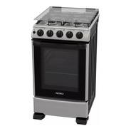 Cocina A Gas Patrick Cp9750i Inox 4 Hornallas 50 Cm