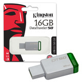 Kingston Memoria Usb Portatil 16gb Data Traveler 3.0 Dt50